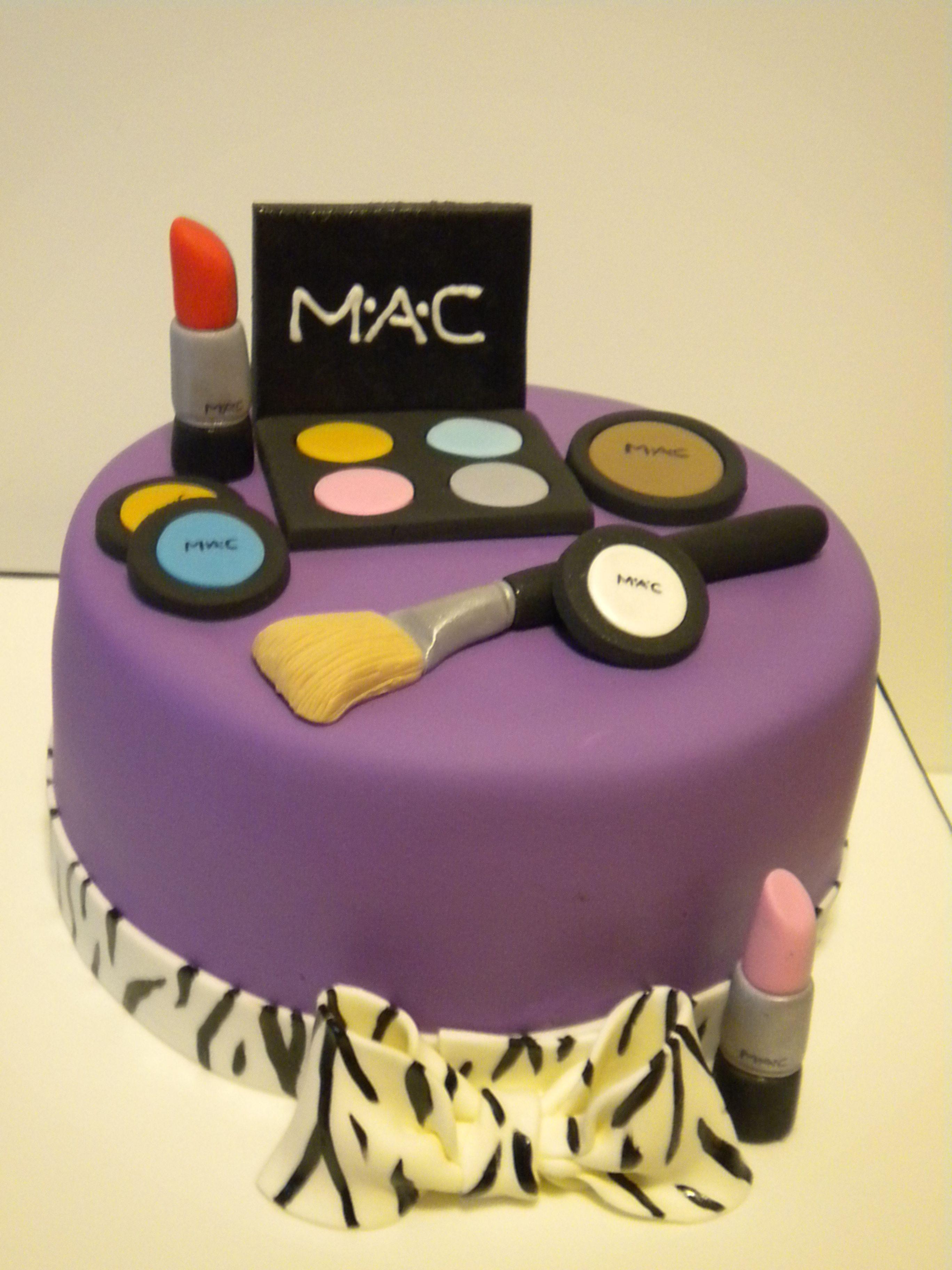 Mac Cosmetics Birthday Cake With Images Makeup Birthday Cakes