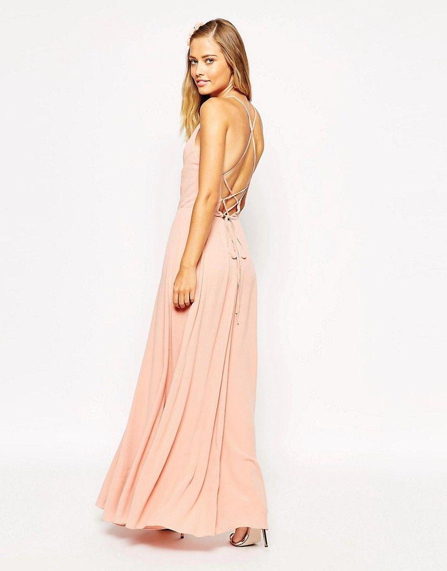 Maxi Dress with Tie Back | Pinterest | Maxikleider, Medium und Rosa
