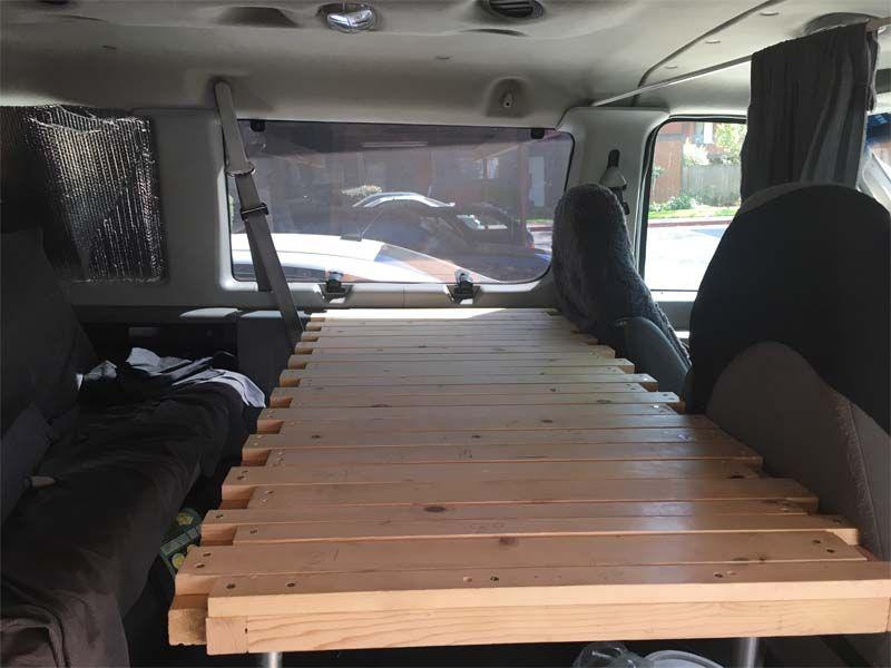 Pul Lout Sliding Slat Bed For Van Bed Slats Campervan