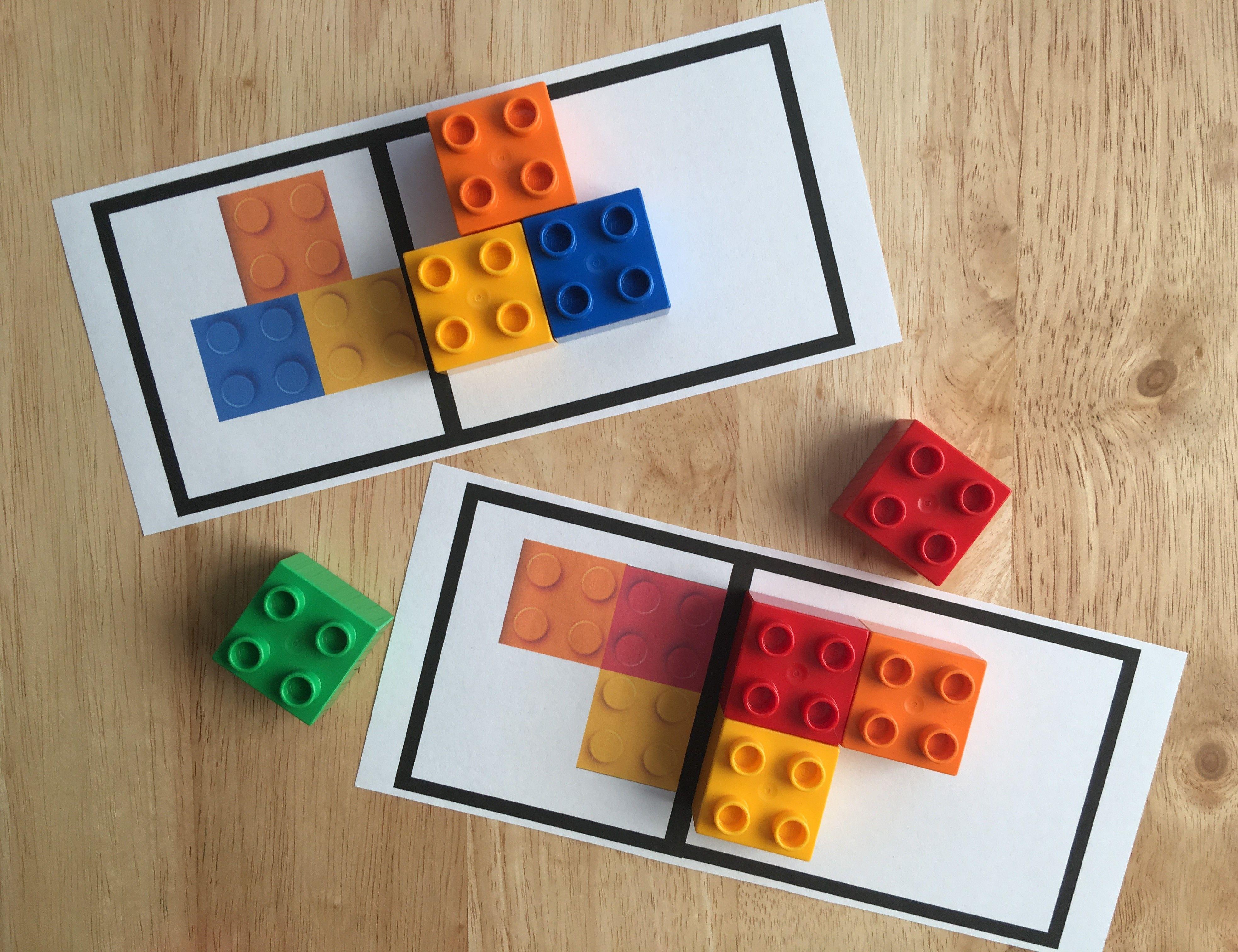 Actividad De Simetría Con Ladrillos Lego Duplo Makerspace