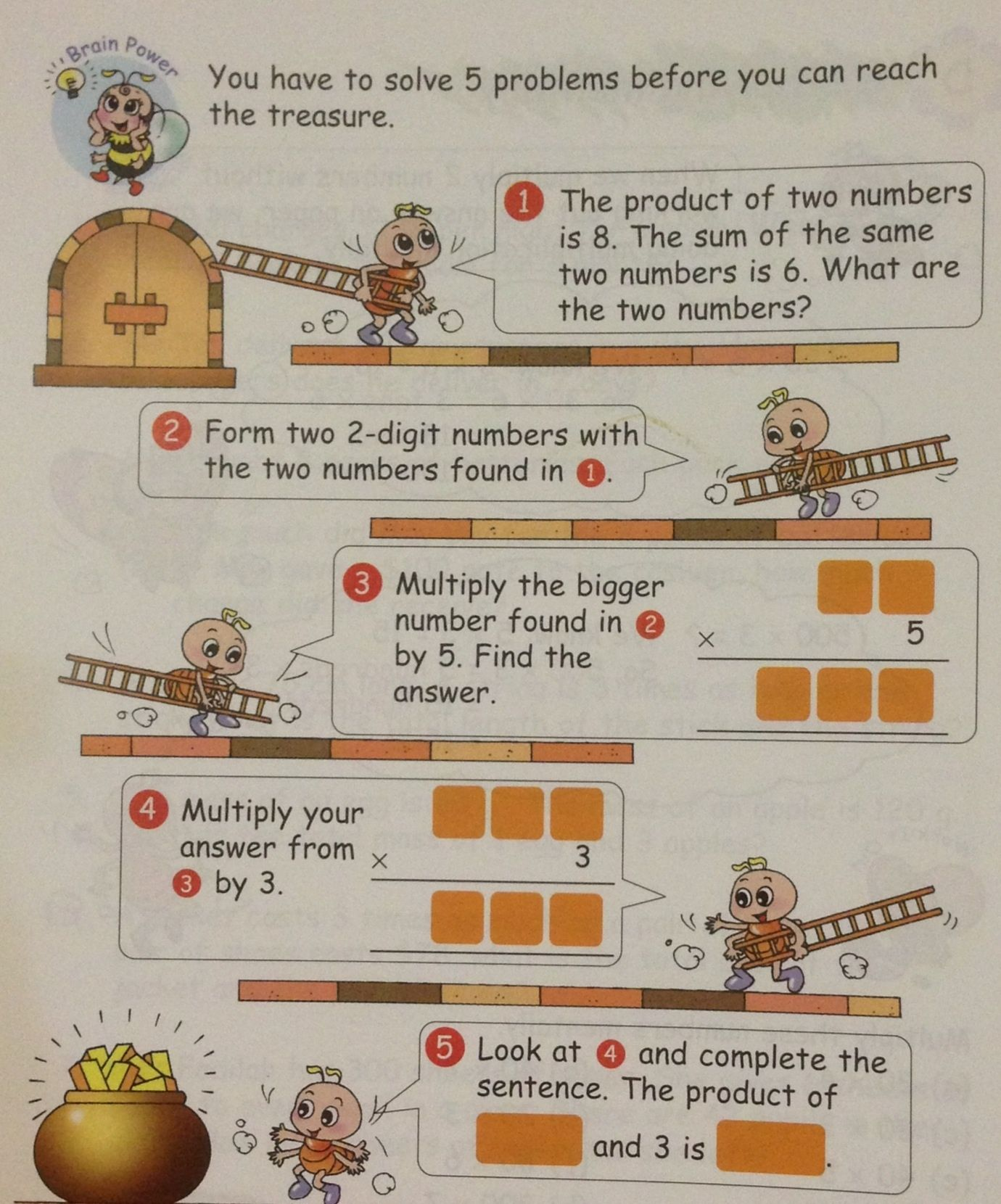 hight resolution of A grade 3 item on mental multiplication. Singapore math   Singapore math