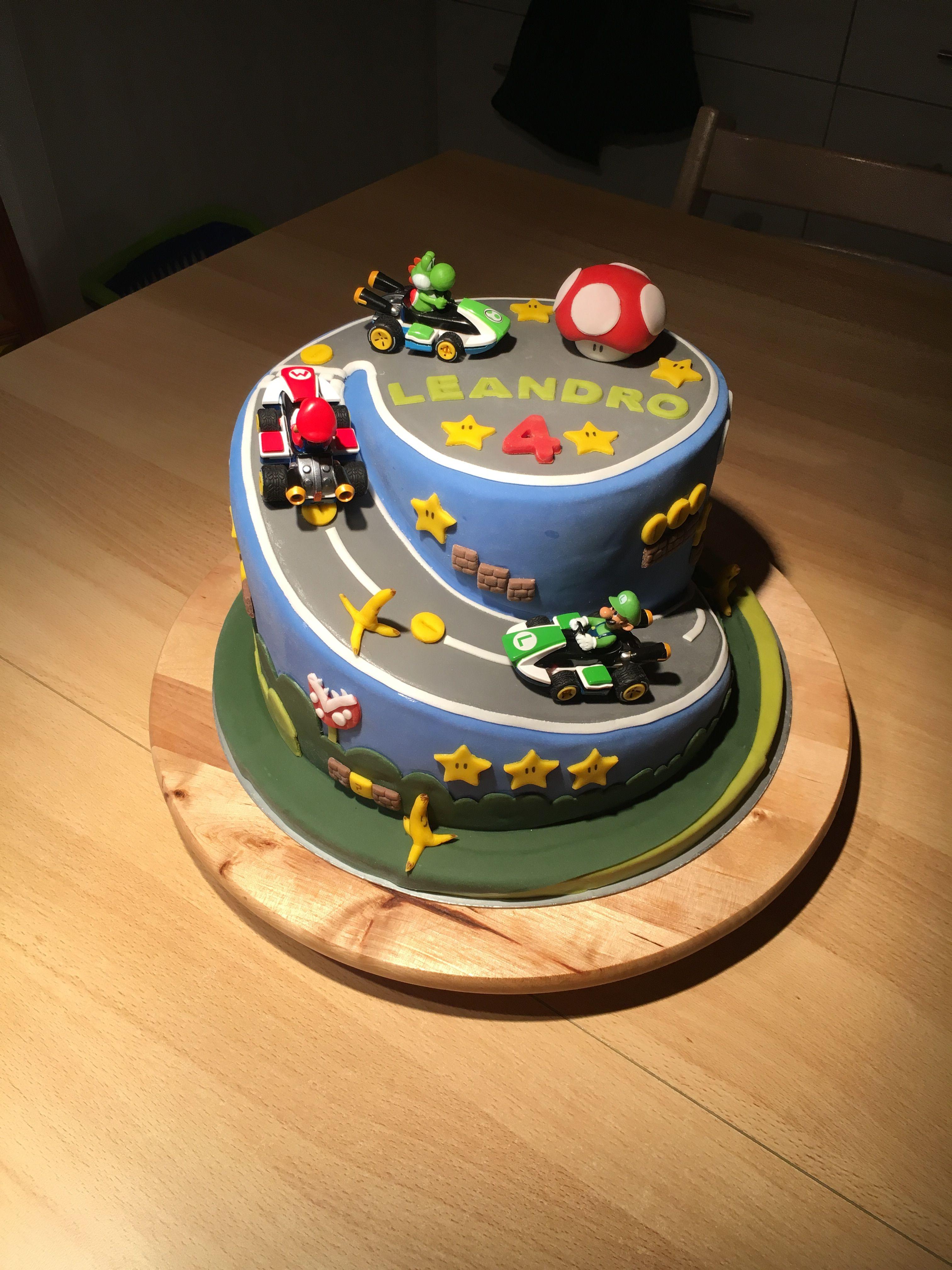 Super Mario Torte Geburtstagstorte Mario Kart Super Mario Torte Motivtorten Geburtstagstorte