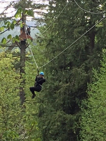 Imagine The Travel Adventure As You Go Zipping Through The Canopy Of A Fir Forest On Your Visit To The Portlan Oregon Road Trip Portland Vacation Oregon Travel