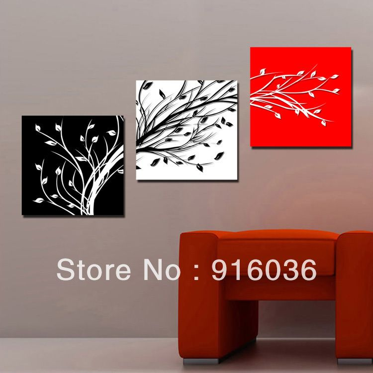 3 Panels Free Shipping Hot Selling Modern Picture Simple Painting Decorative Canvas Abstract Paint Art Living