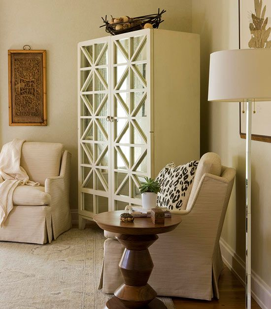 We Love This Mirror Paneled Armoire From Hickory Chair! Inside Is A Mini