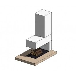 modern fireplace revit family 3d architectural cad