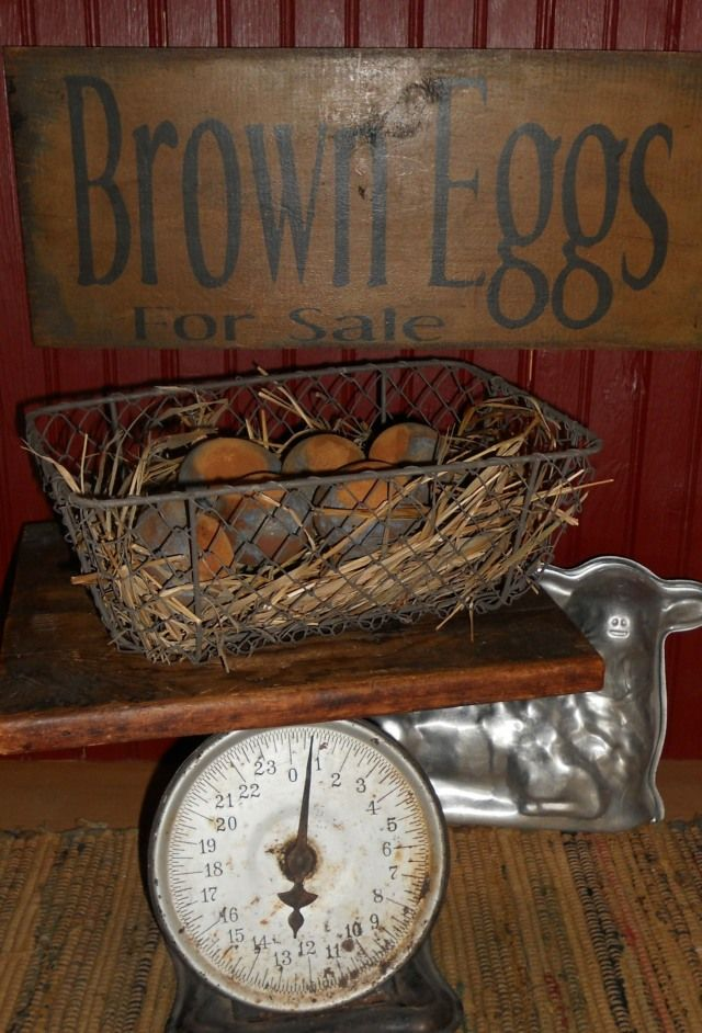 Grungy Farm Egg Tutorial & wire basket