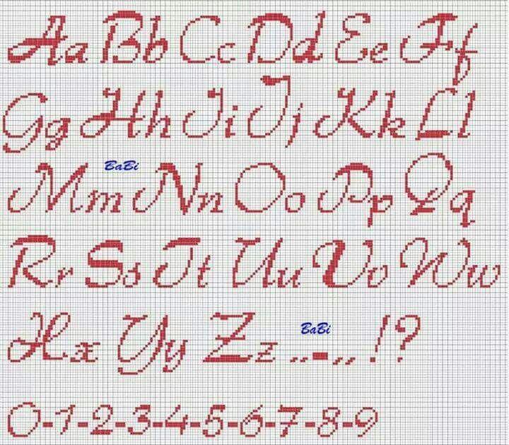 Maiuscole E Minuscole Lettere Punto Croce Alfabeto Punto Croce