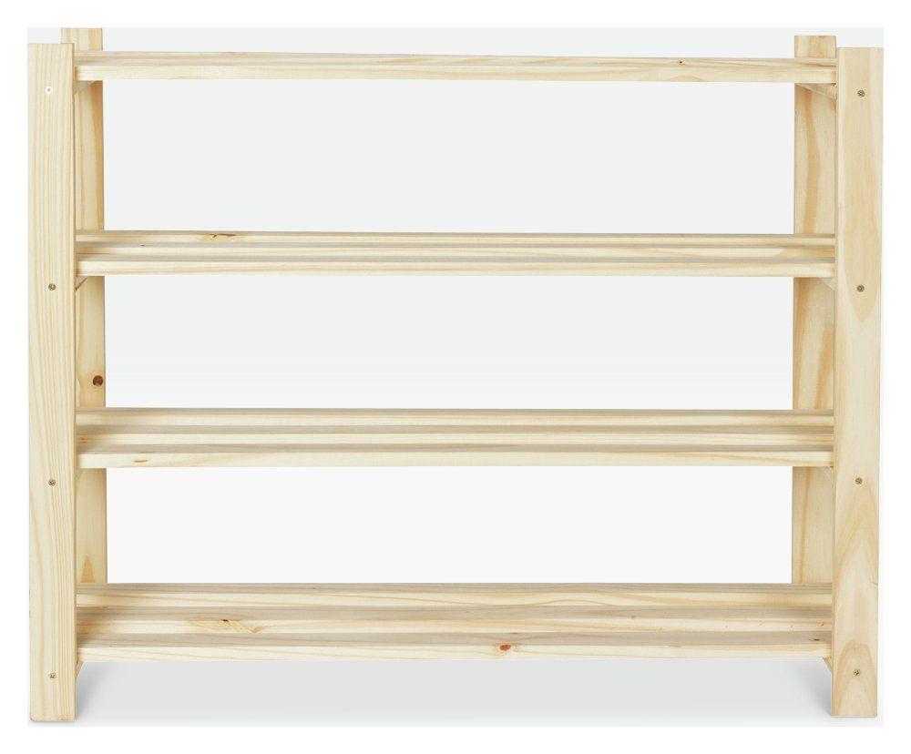 Buy Argos Home 4 Shelf Shoe Storage Rack Solid Unfinished Pine
