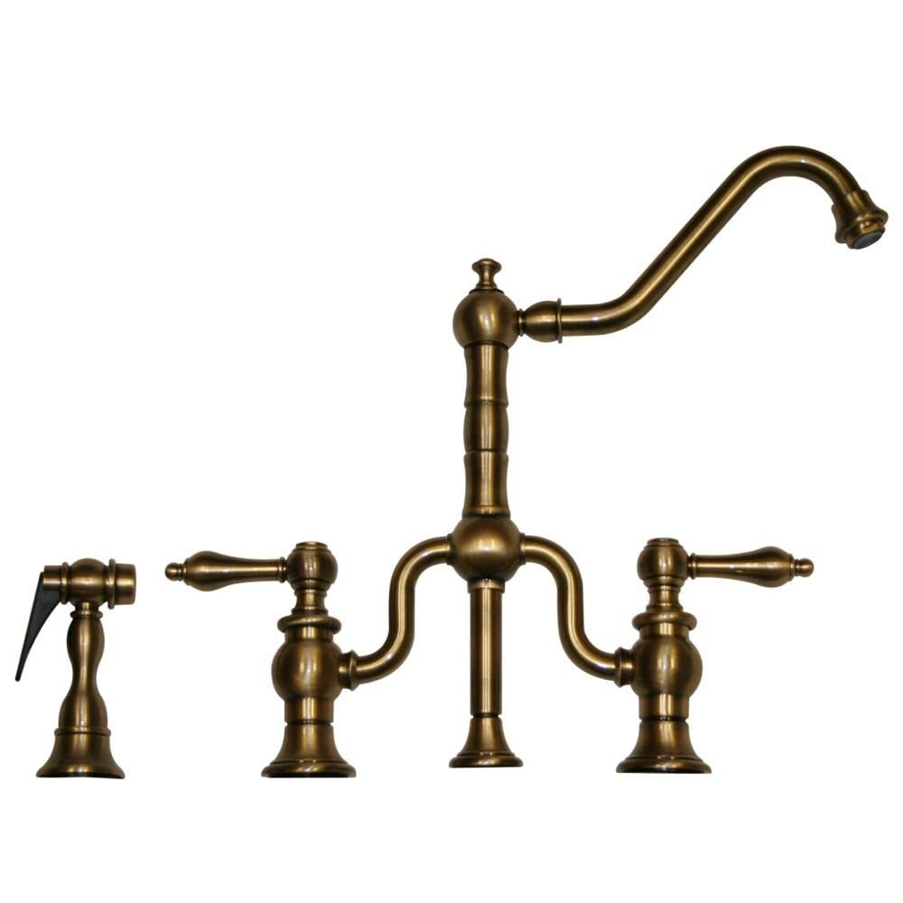 Twisthaus Bridge Faucet With Long Traditional Swivel Spout Lever