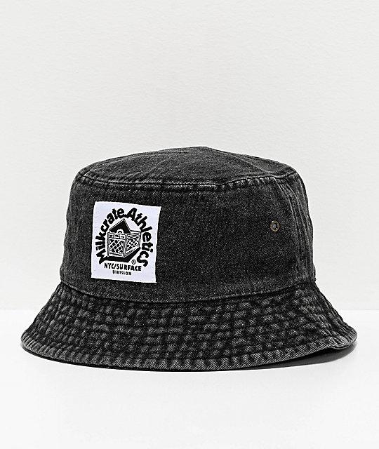 Milkcrate Black Washed Denim Bucket Hat Zumiez Bucket Hat Fashion Outfits With Hats Denim Wash
