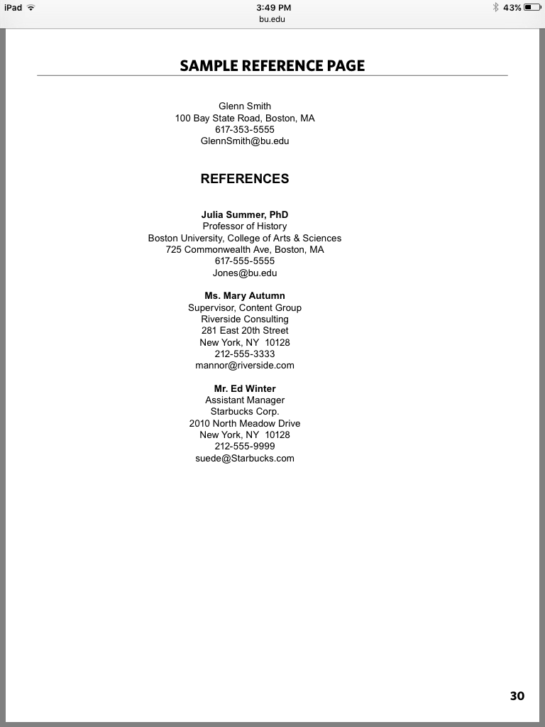Teacher resume reference page what not to write college essay about