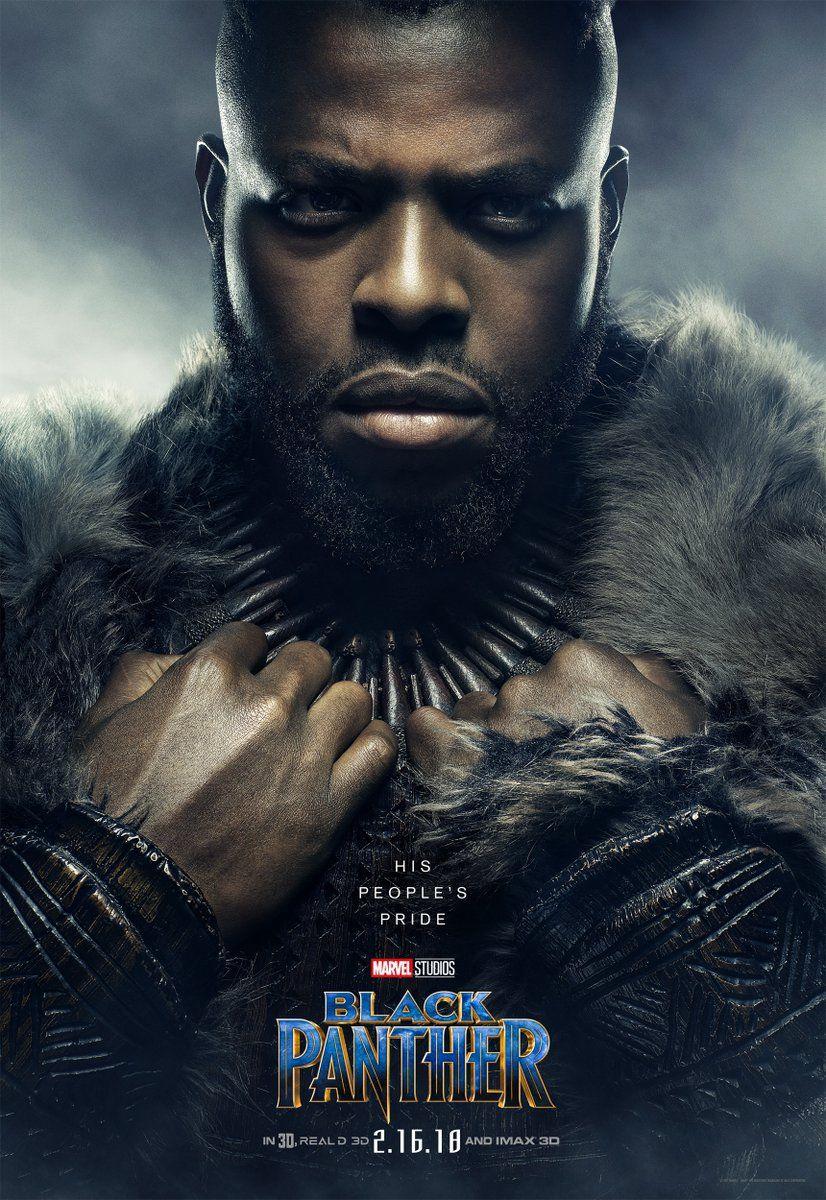Poster Pantera Negra W Kabi Personagem Pantera Negra Black