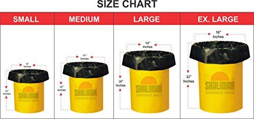 Shalimar Premium Garbage Bags Medium Size 48 Cm X 56 6 Rolls 180 Trash Bag Dustbin Home And Kitchen Waste Recycling