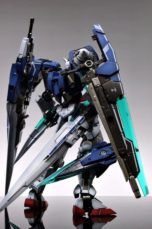 Gundam Guy Mg 1 100 00 Gundam Seven Sword G Painted Build Gundam Custom Gundam Gundam Model