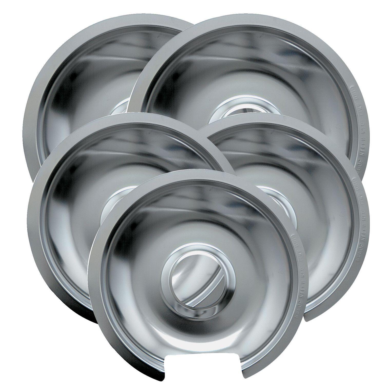 5 Piece Cooktop Style D Hinged Electric Range Drip Pan Set