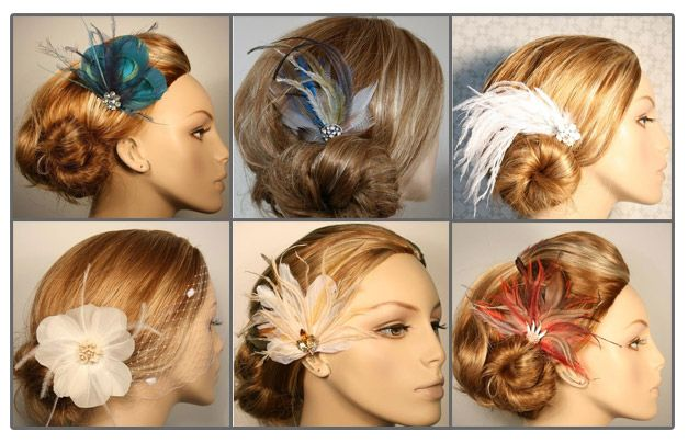 Fascinators Bridal Hair Accessories Feathered Hairstyles Vintage Bridal Hair Accessories