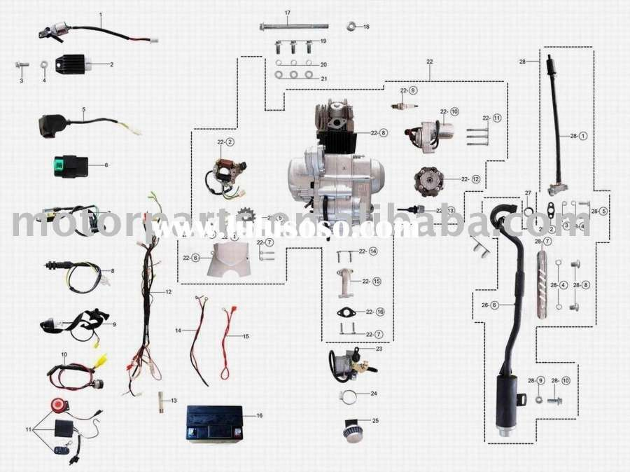 Pit Bike Engine Wiring Diagram and Coolster Cc Dirt Bike
