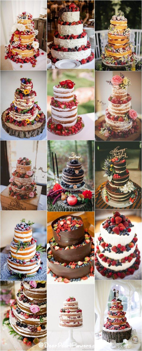 Rustic berry wedding cakes / http://www.deerpearlflowers.com/rustic-berry-wedding-cakes/