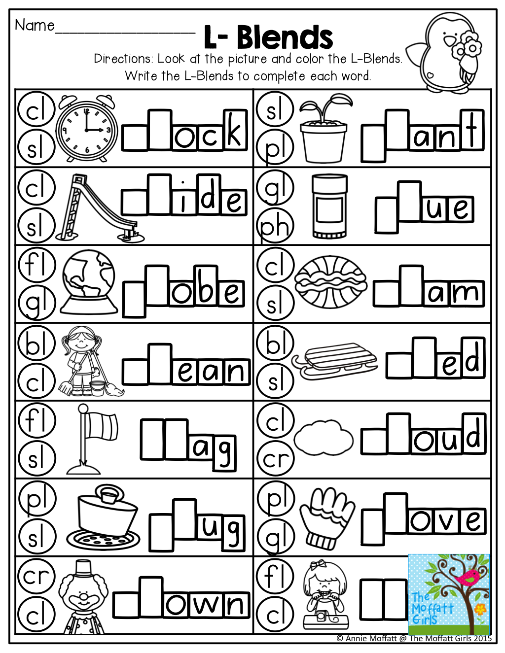 L Blends Dot The Blend And Write It Tons Of Great Printables