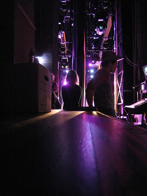 Backstage Purple Lights Waiting In The Wings For You