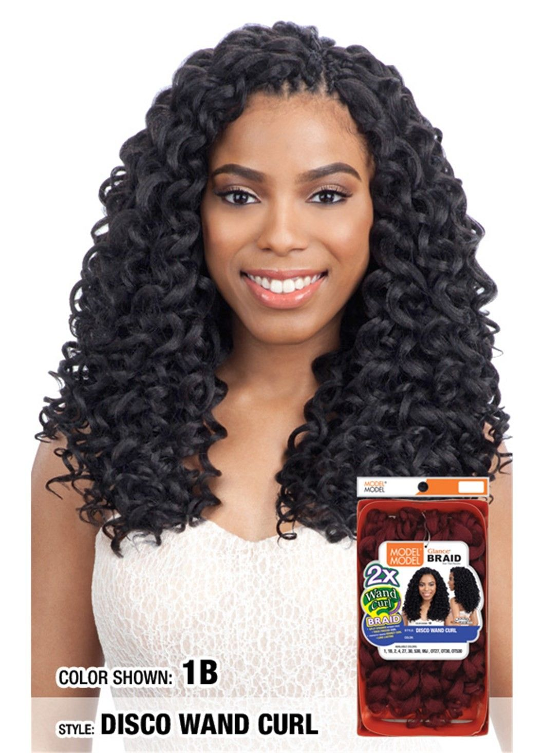 Model Model Glance Braid 2X DISCO WAND CURL Wand curls
