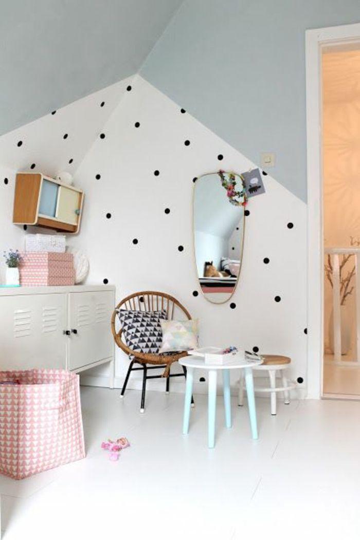 Wandfarben 2016 Trendfarben Neutrale Farbe Wandgestaltung Getupft  Kinderzimmer