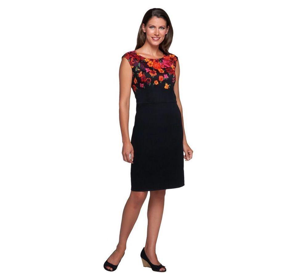 Isaac Mizrahi Live! Engineered Wildflower Print Dress ...
