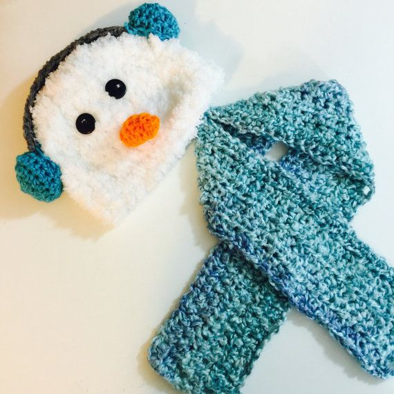 Crochet el sombrero de muñeco de nieve y por MysticCrochetMagic