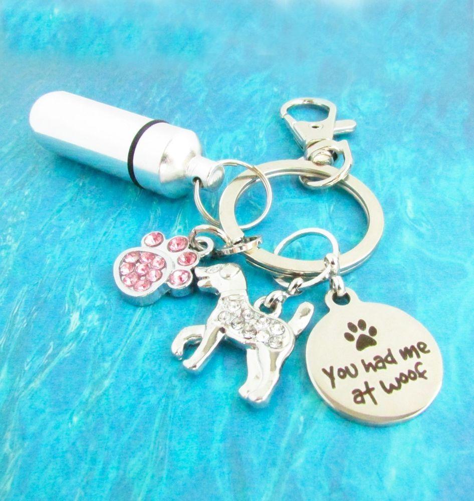 Pet Ashes Keychain, Urn Keychain, Pet Loss Keychain, Paw