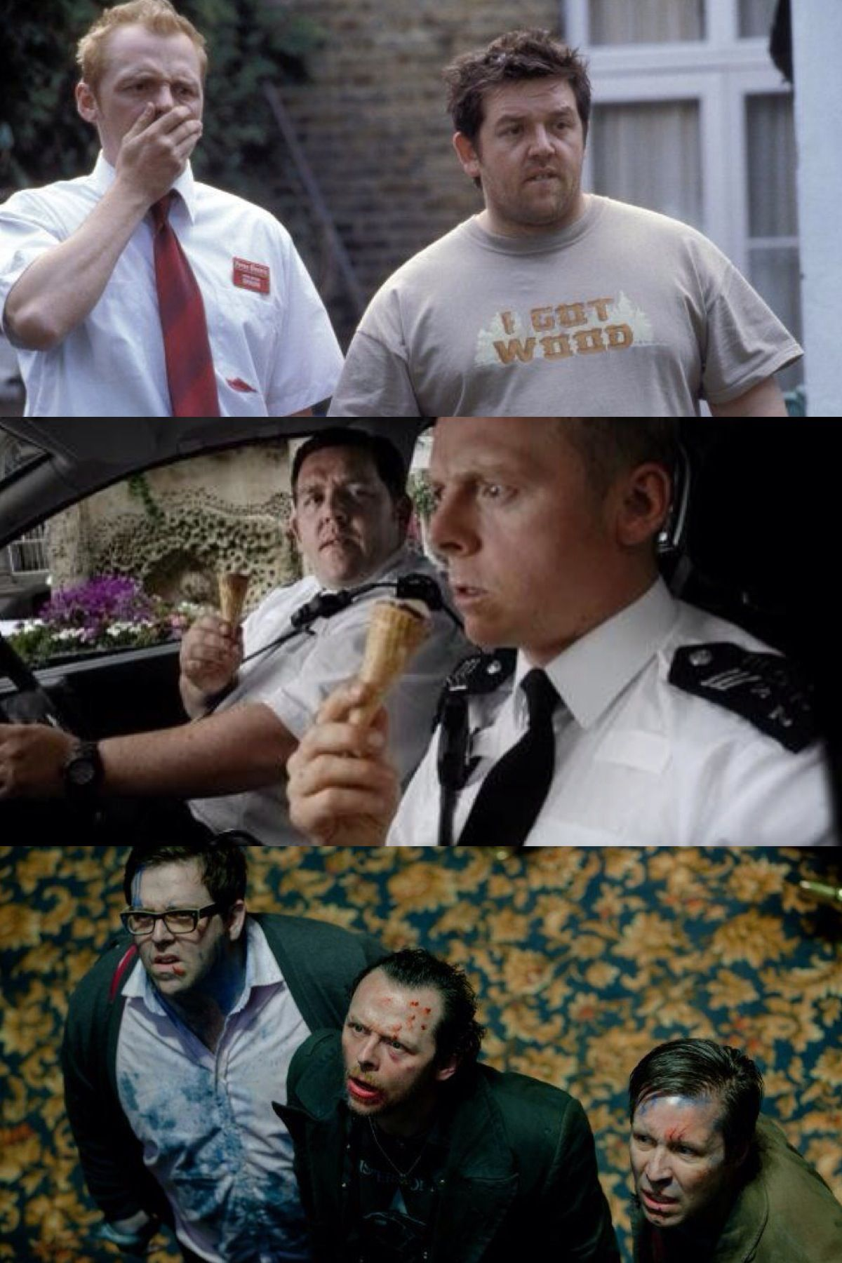 The Cornetto Trilogy Shaun of the Dead Hot Fuzz The World's End Directed by  Edgar Wright. Starring Simon Pegg and Nick Frost