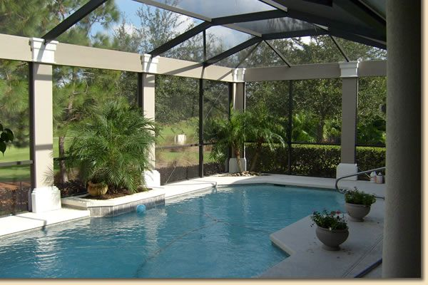 Pool enclosed stained glass secret gardens other - Above ground swimming pools orlando florida ...