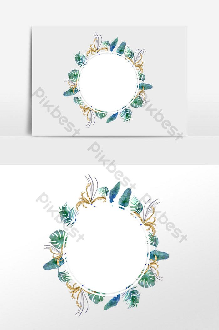 Photo of Hand drawn colorful feather wreath illustration elements | Graphic elements PSD free download – spades
