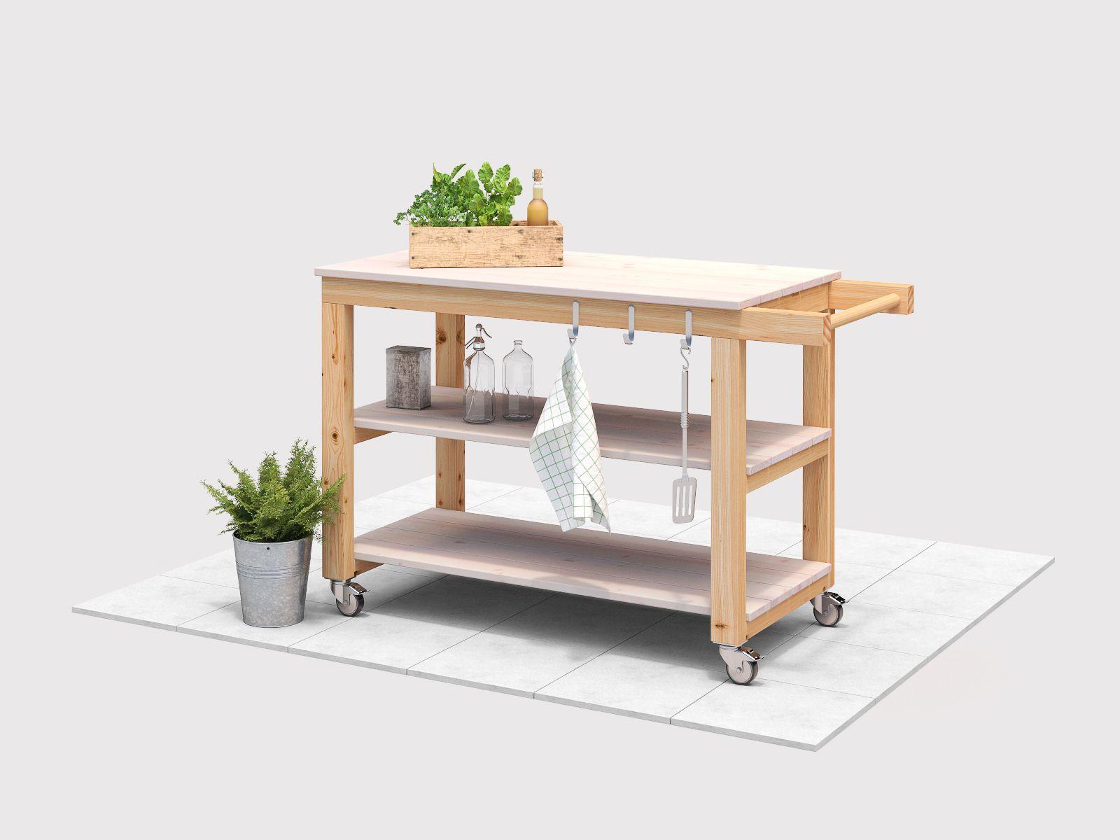 Outdoorküche Mit Spüle Obi : Servierwagen sophie selber bauen gartenmöbel obi möbelbau