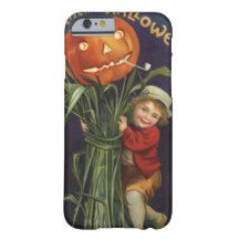 Vintage Halloween Pumpkin Harvest Barely There iPhone 6 Case