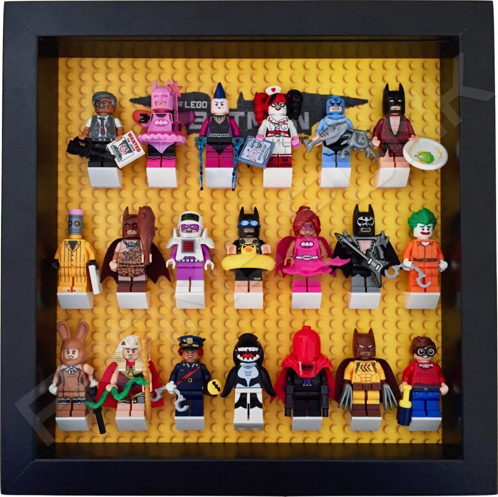 Lego batman movie minifigures series display frame with minifigures black