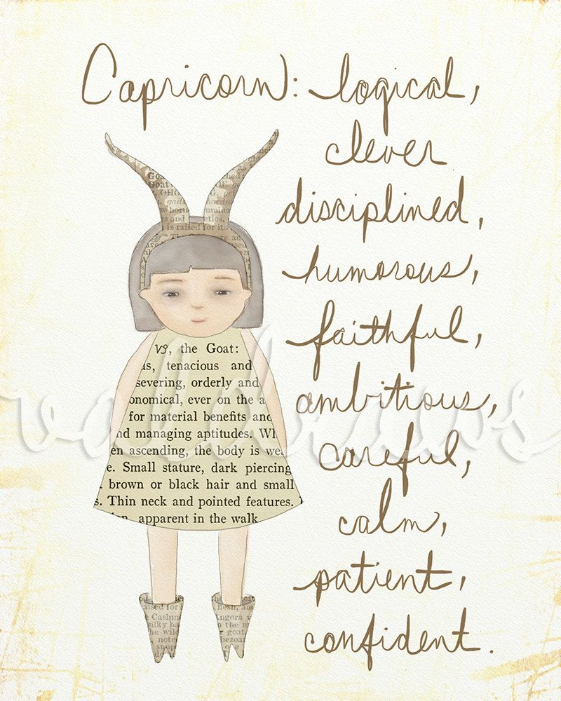 Capricorn-Saturn-Father of Time and deeply disciplined