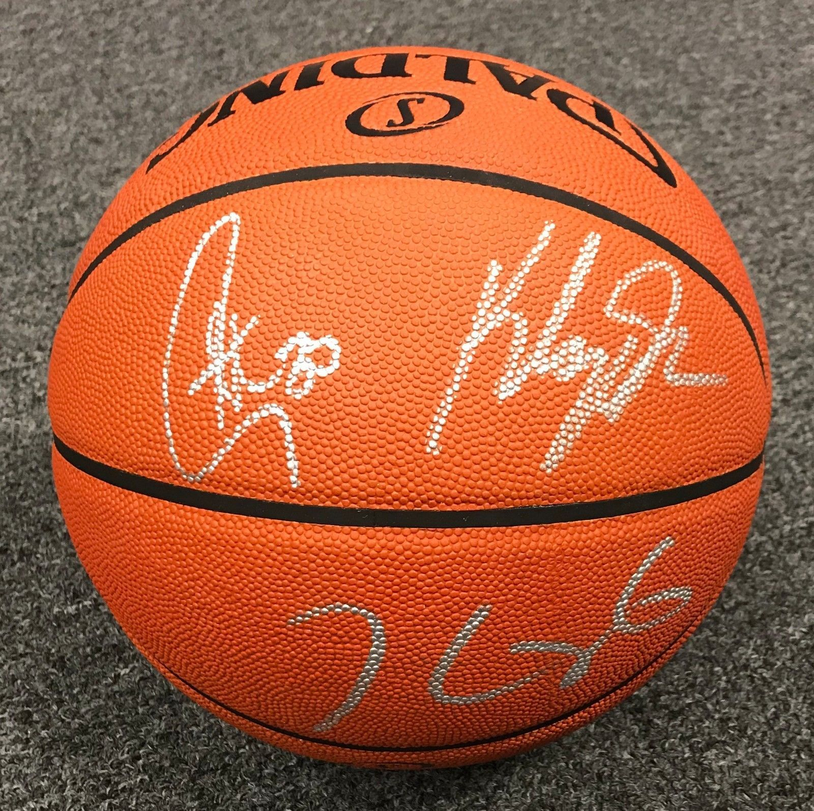88bf0a539ef2 Stephen Curry + Kevin Durant   Klay Thompson Signed Basketball PSA DNA +  BAS LOA  Basketball