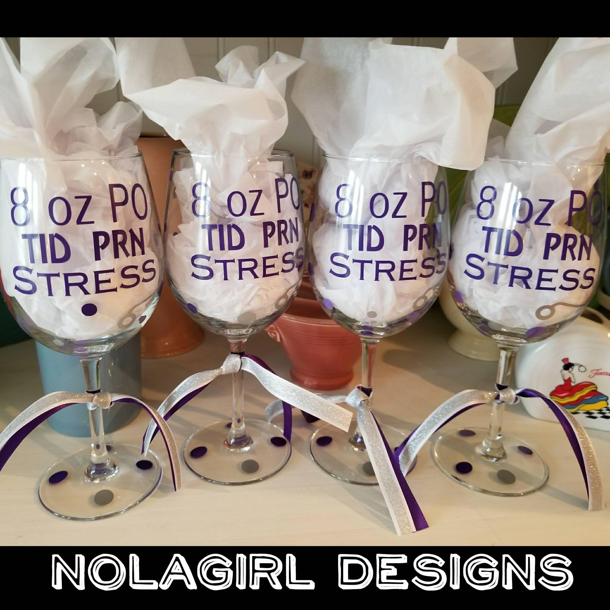 Nurse Wine Glass Free Personalization