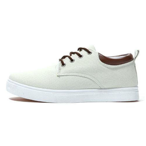 Baskets Chaussures Toile Casual Look Summer Trendy Blanc