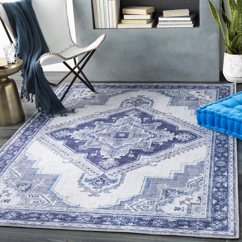 Paramount Power Loom Navy Ice Blue Rug In 2020 Blue Rug Rugs Colorful Rugs