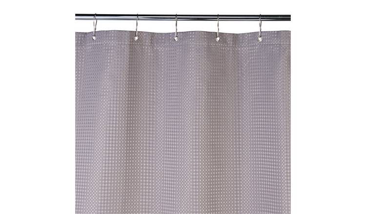 Buy Argos Home Shower Curtain Grey Waffle Shower Curtains In