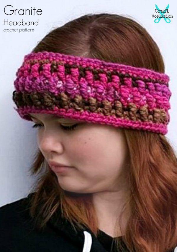 Granite Headband and Earwarmer free crochet pattern on ...