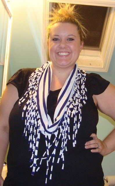 t shirt scarf with fringe