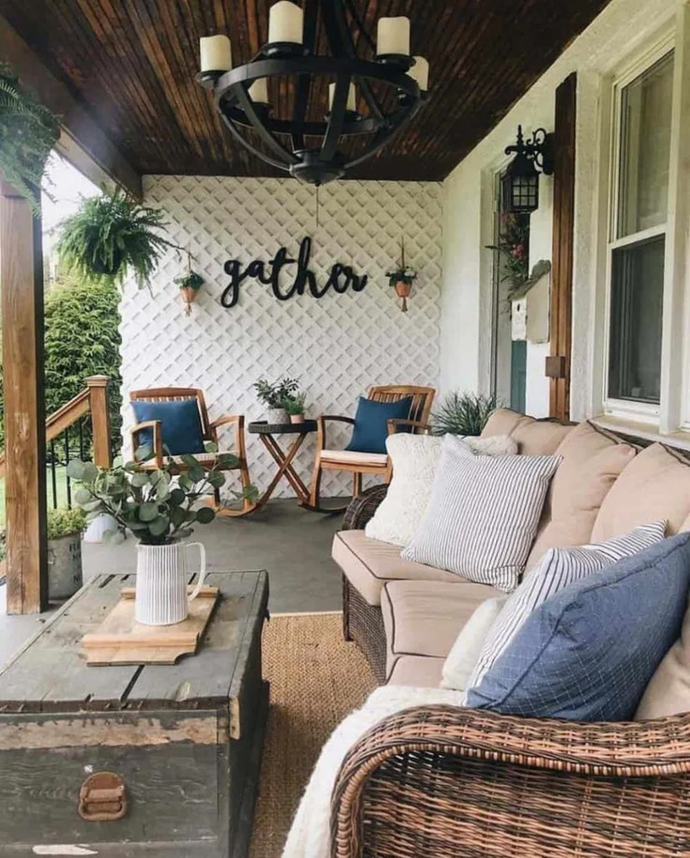 17 gorgeous and inviting farmhouse style porch decorating ideas 8 #farmhouse #farmhouseideas #farmhousedecor » helpwritingessays.net #rusticporchideas