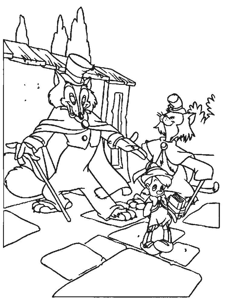 Pinocchio Look Very Moody Coloring Pages Coloring pages