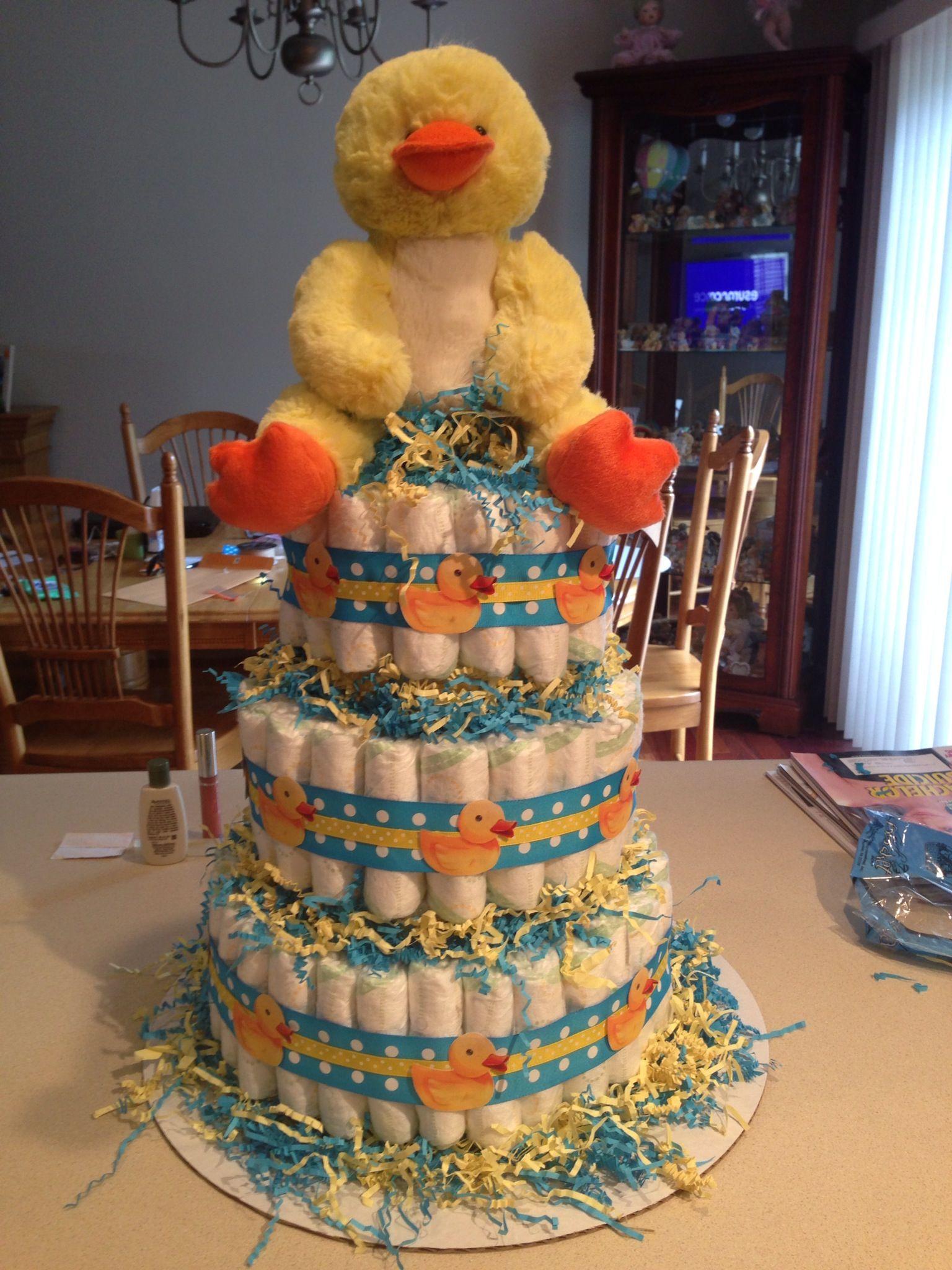 Diaper cake I made for a baby shower