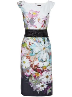 Phase Eight Bloom belted dress Multi-Coloured - House of Fraser