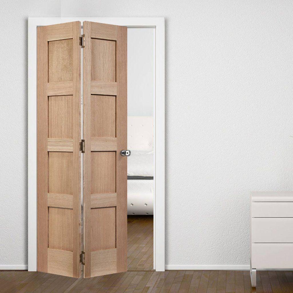 Contemporary 4 panel oak solid bifold door contemporary doors contemporary 4 panel oak solid bifold door eventelaan Choice Image