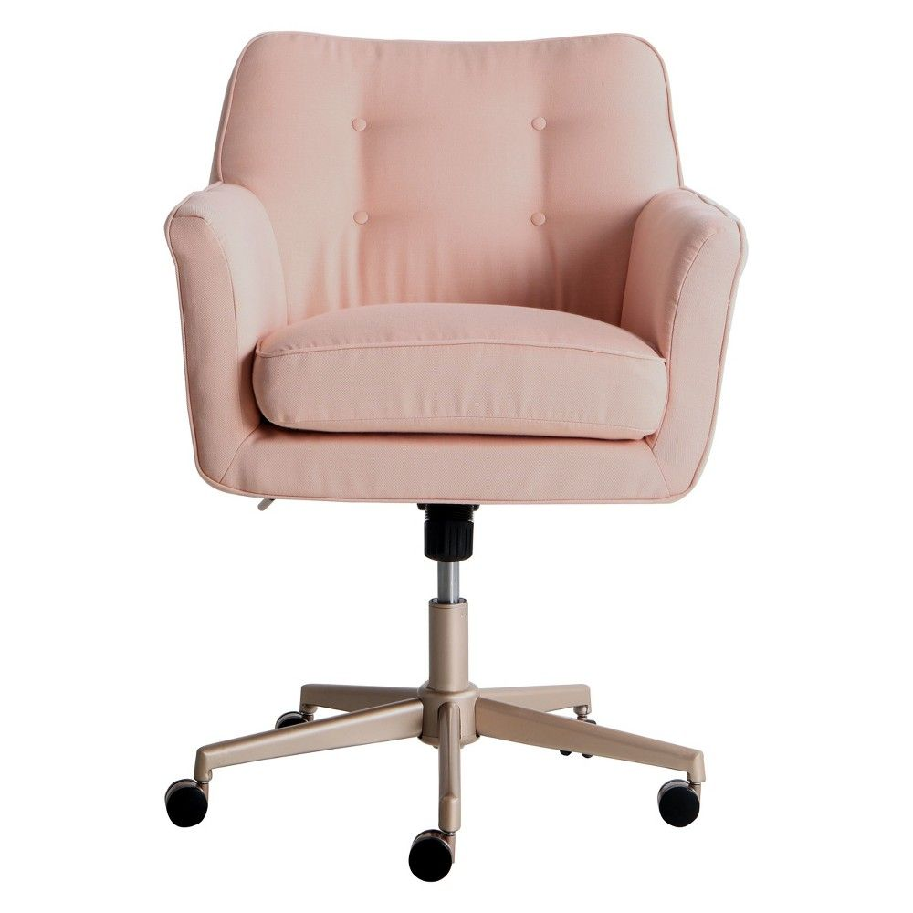 Style Ashland Home Office Chair Party Blush Pink Serta Sillas Para Habitacion Sillas De Escritorio Decoraciones De Interiores Dormitorios